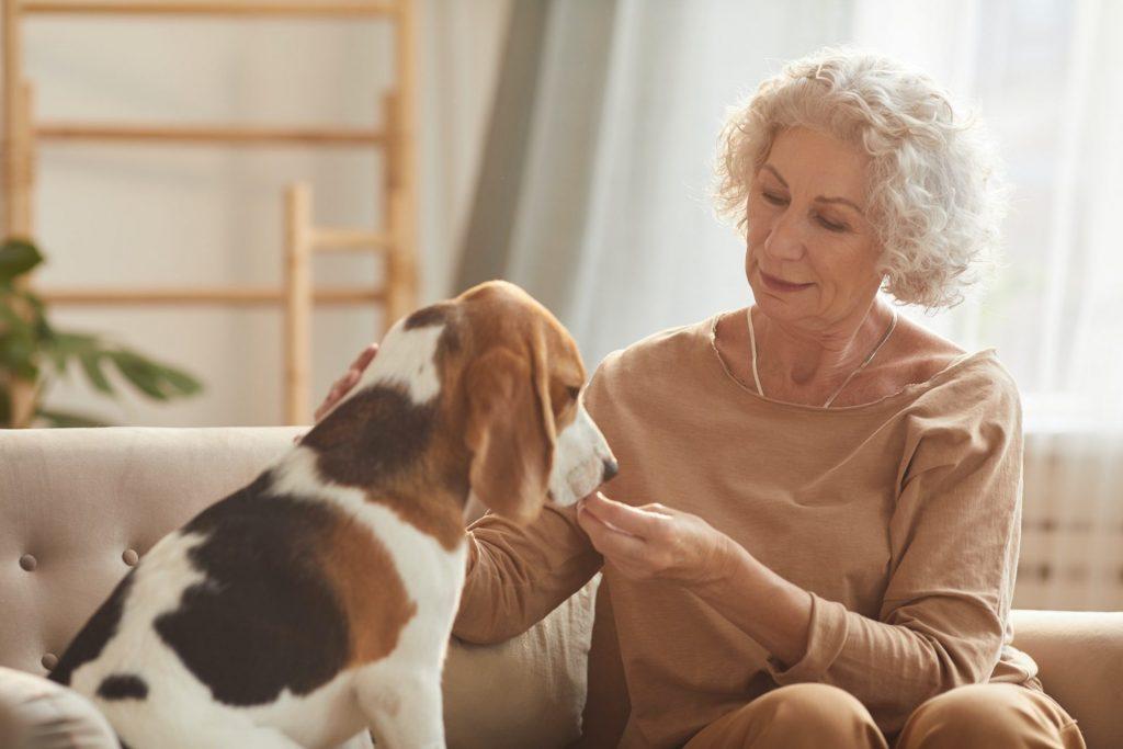 Senior Woman with Pet